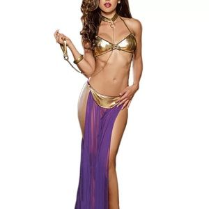 Star Wars Princess Leia Cosplay Costume Lingerie